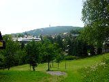 Teil des Park , im Hintergrund der Keilberg