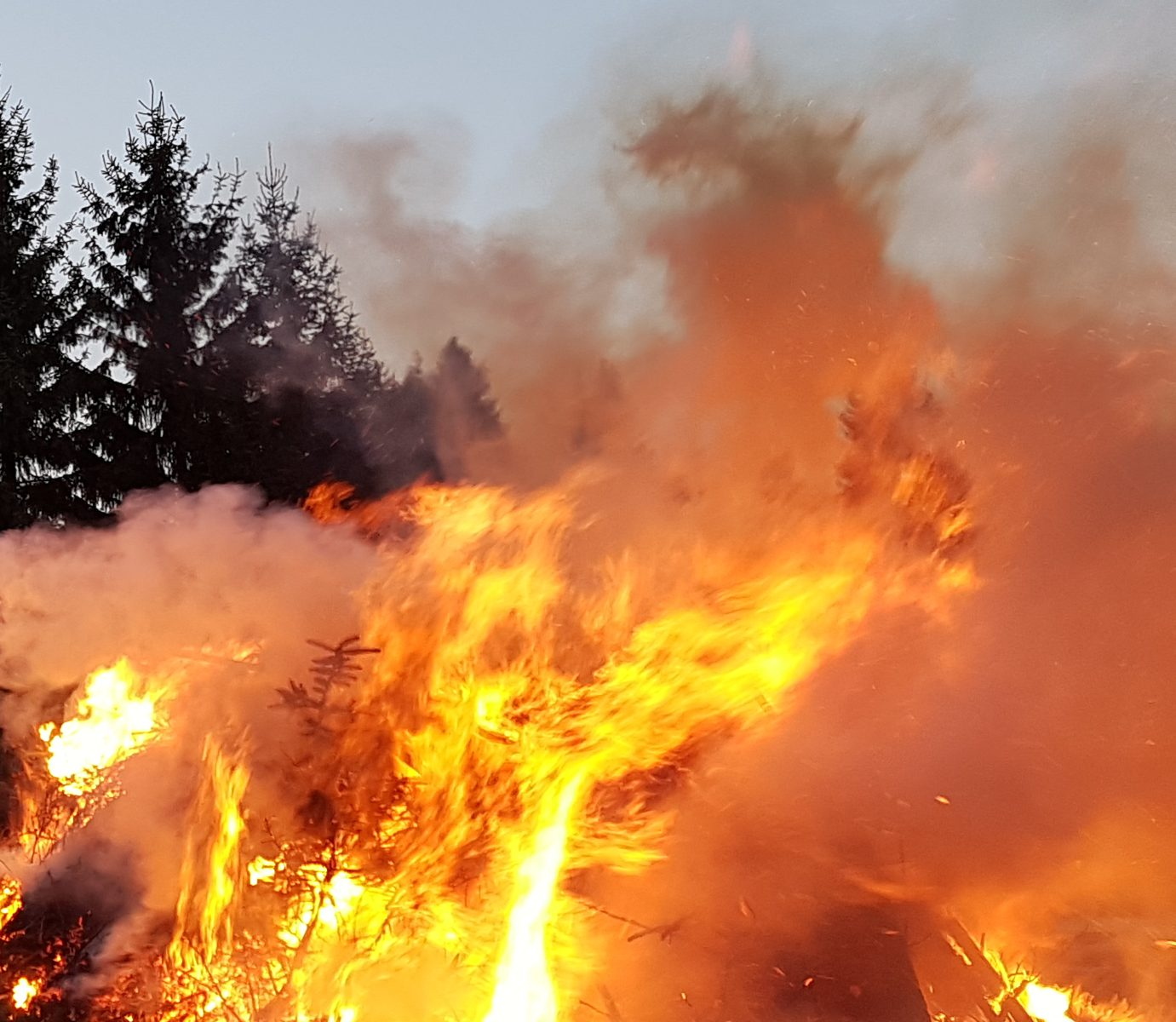 Osterfeuer in Holzhau 2020